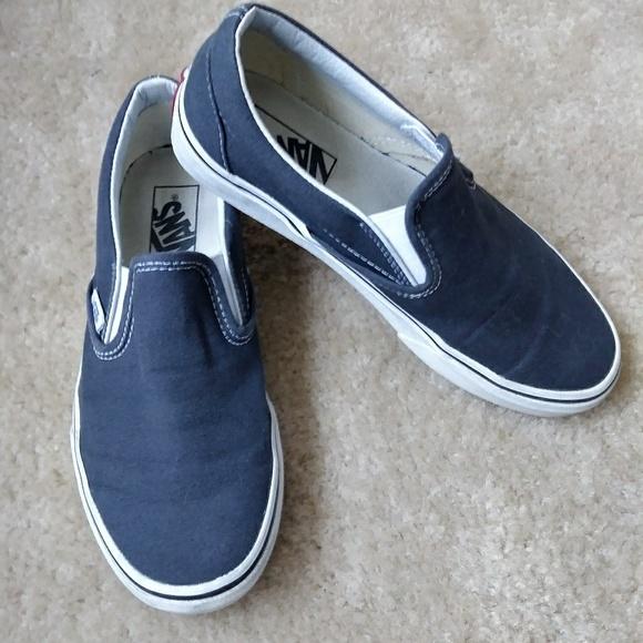 29edec4f52371e Vans Shoes - VANS charcoal grey slip ons